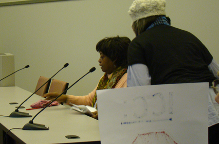 Through tears, Mary Bailey testified to the ICC  how gas rate increases affect low income residents