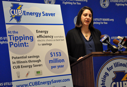 Northbrook resident Tracey Becker told local media that her family has saved more than $650/year with the help of energy efficiency tips from CUB Energy Saver