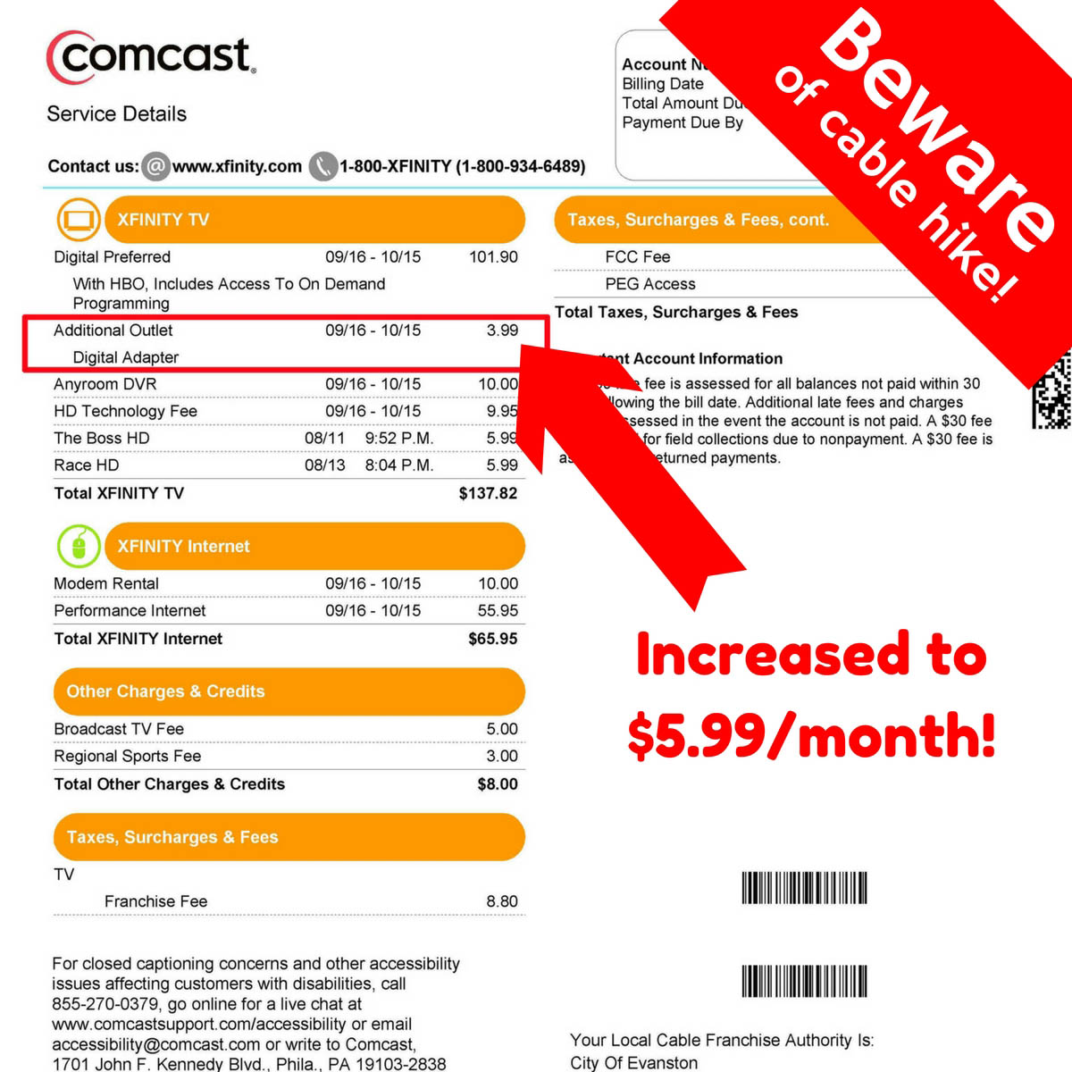 """Check your Comcast bill: Are you paying a """"digital adapter"""