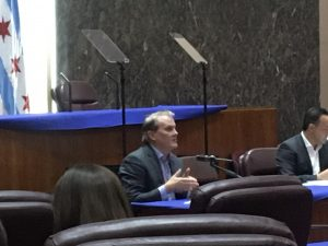 CUB Director David Kolata testifies before Chicago City Council's Committee on Environmental Protection and Energy